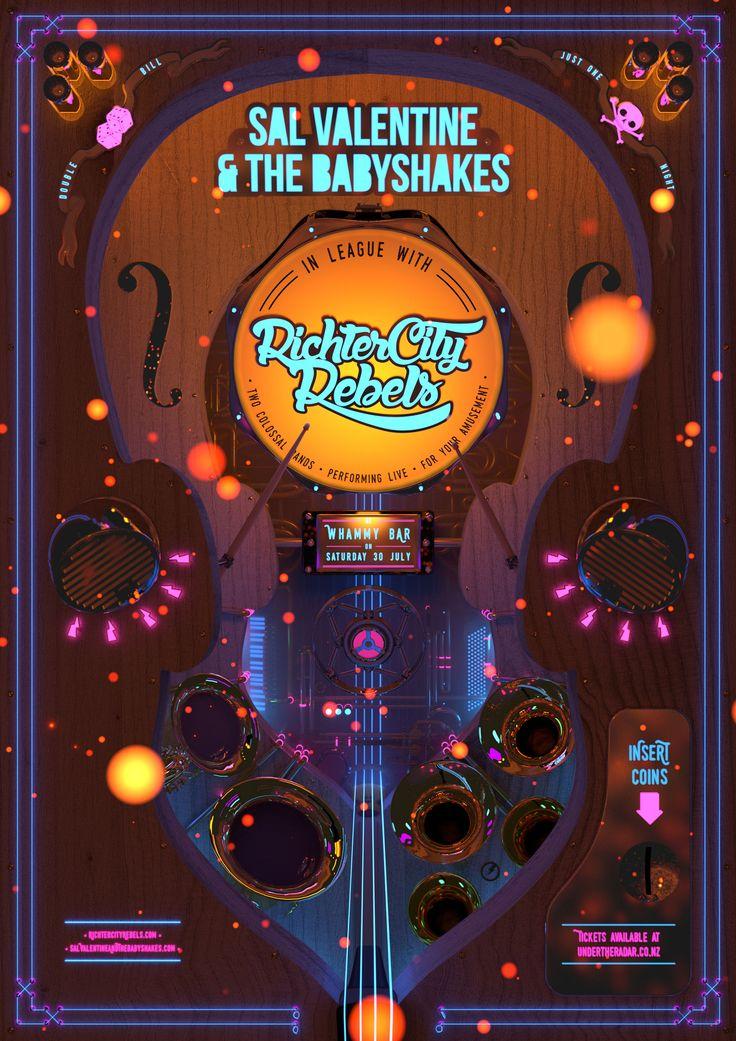 Sal Valentine and The Babyshakes & Richter City Rebels play Whammy Bar. www.behance.net/davidrandallpeters