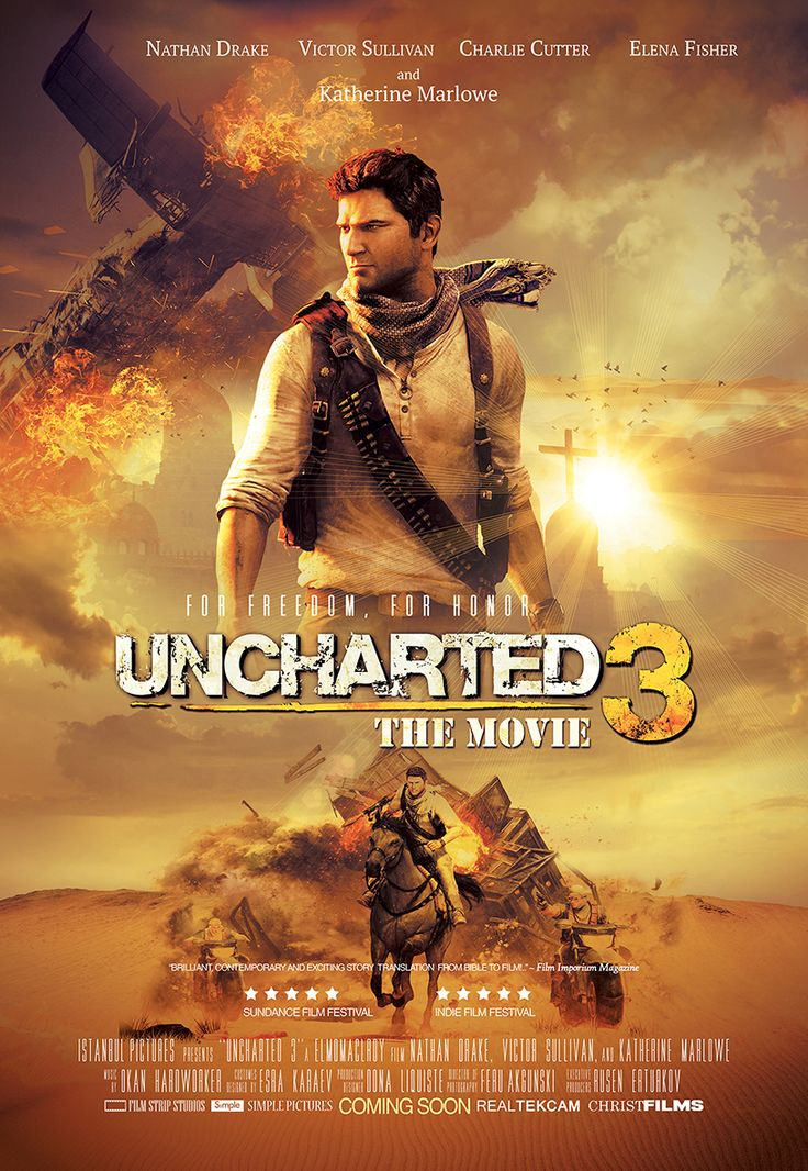 Uncharted 3 Movie Poster movie Pinterest Movies