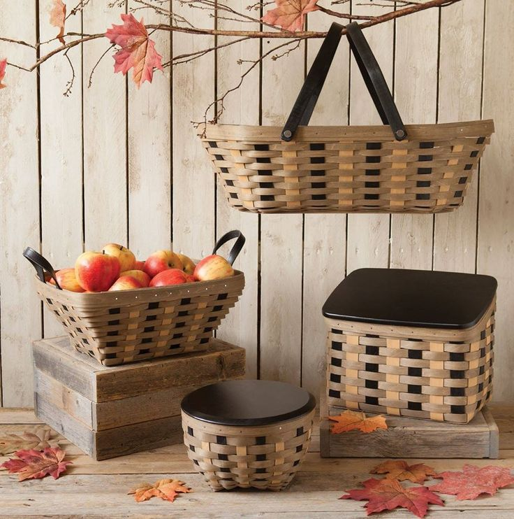 Longabergeru0027s New Khaki Check Line Looks Great In So Many Homes And  Offices. Very Versatile. Woven BasketsBasket ...