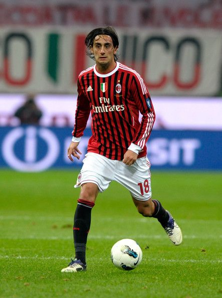 Alberto Aquilani in action during the Serie A match between AC Milan and Parma FC at Stadio Giuseppe Meazza on October 26, 2011 in Milan, Italy.