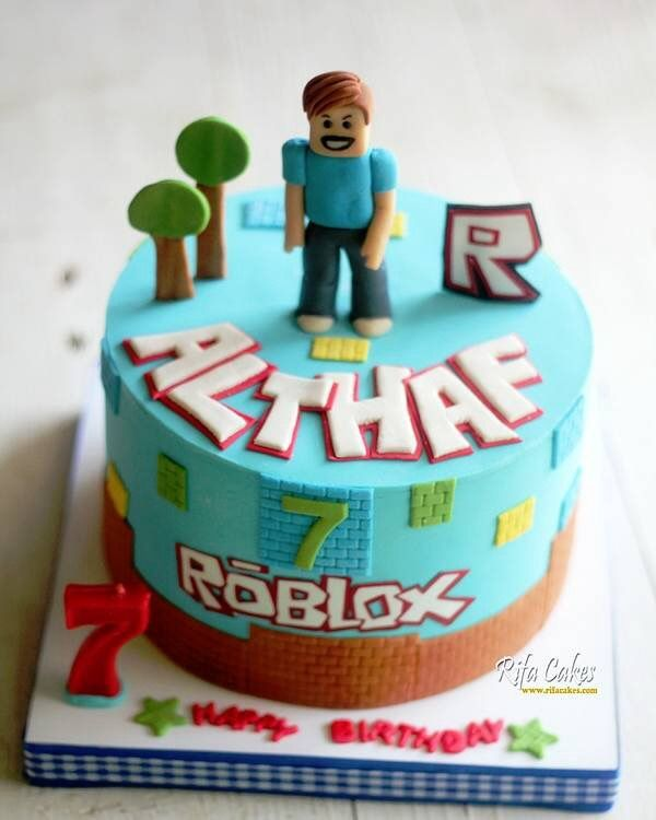 Roblox Cake For Boy Roblox Cake Roblox Birthday Cake Birthday Cake Kids Boy Birthday Cake