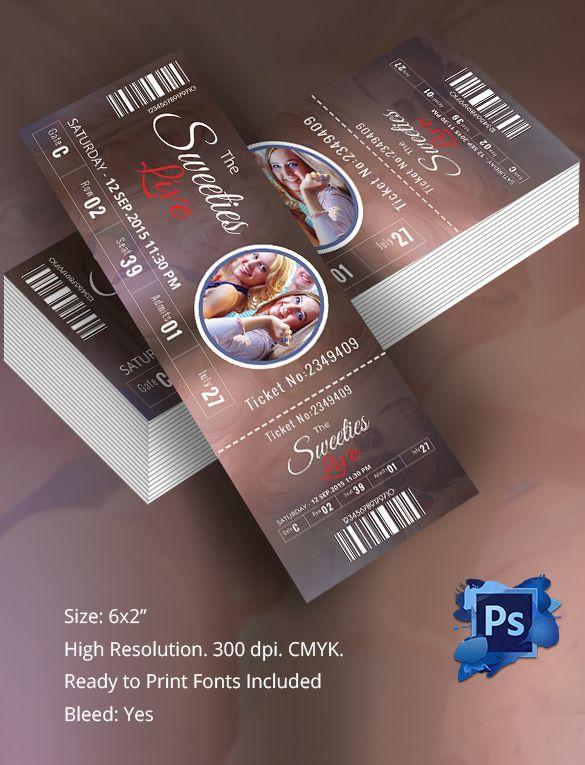 Print tickets free template jobsbillybullockus – Print Tickets Free Template