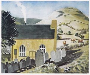 """Chapel at Capel-y-ffin"" by Eric Ravilious, c.1938"