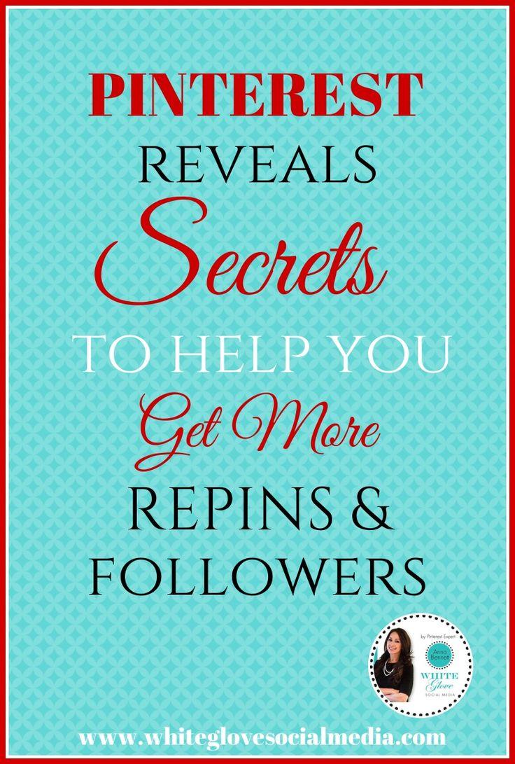 Pinterest reveals secrets to help you get more repins & followers