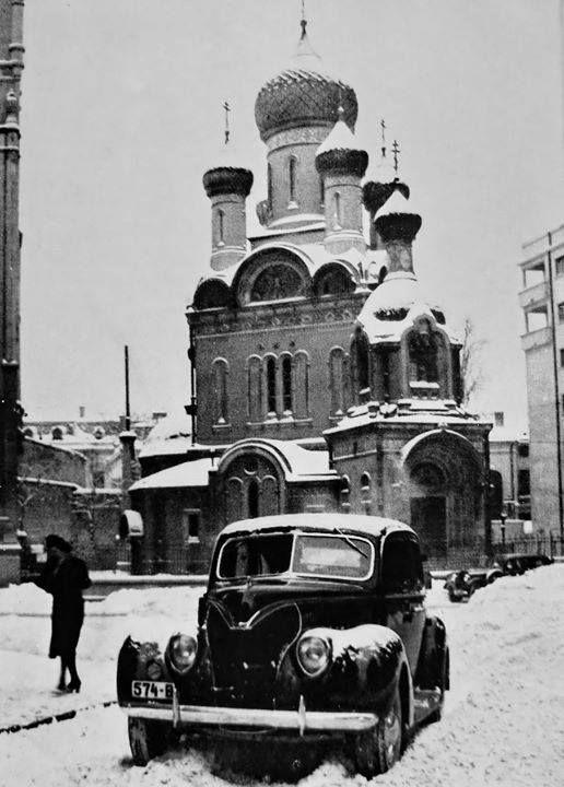 Peisaj de iarna in capitala, in apropierea Bisericii Ruse.