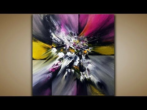 Abstract Painting / DEMO 59 / Abstract Art / Palette Knife and Brushes / Painting Techniques – YouTube