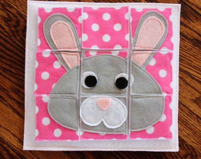 Puzzle de conejo - libro tranquila hechos a mano personalizados página A página solo ampliar su libro tranquilo personalizada