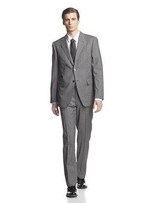 -34,400% OFF Cerruti 1881 Men's Drop 7 Classic Fit Suit (Black/Grey Houndstooth)