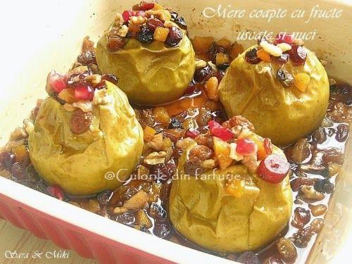 » Mere coapte cu fructe uscate si nuciCulorile din Farfurie