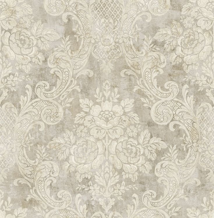 Brockhall - Floral Damask taupe NH22007