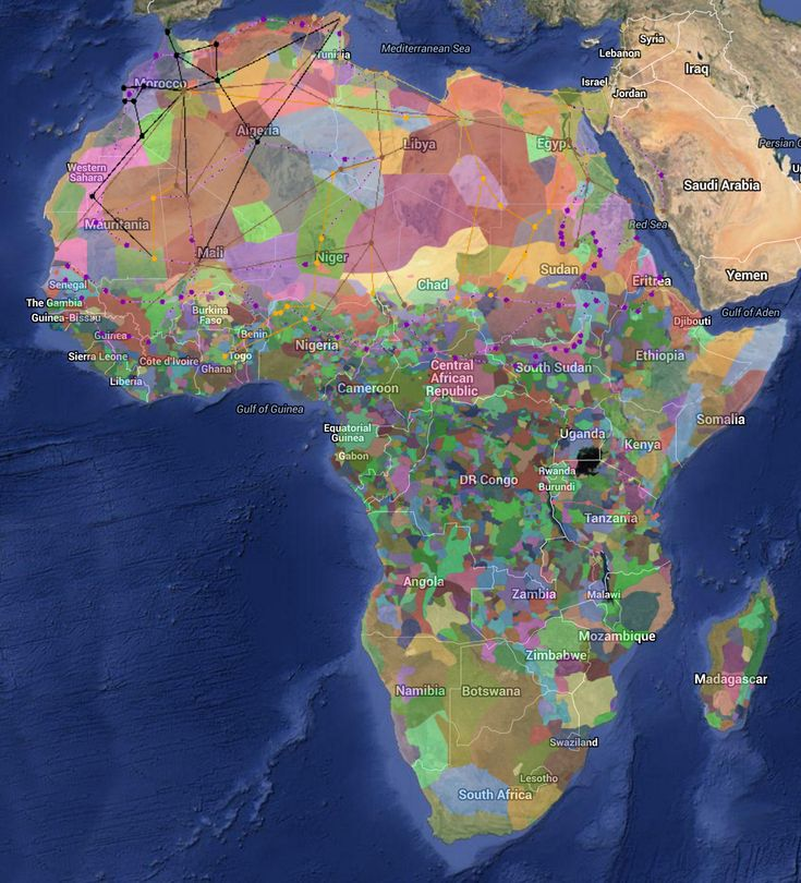 This Harvard University map of ethnic diversity across Africa speaks volumes.