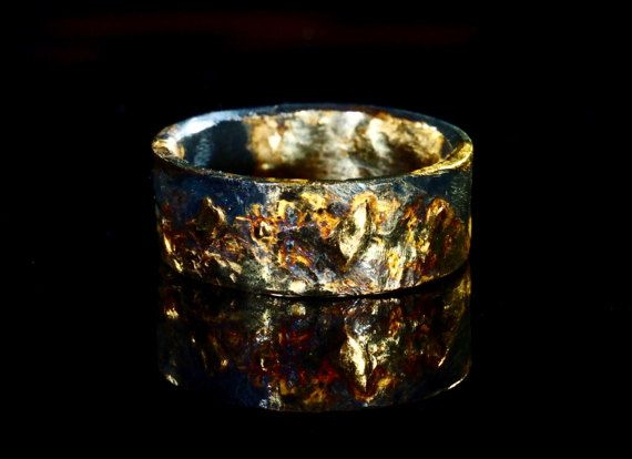 Unique Mens Wedding Band Gold Amp Silver Viking Wedding Ring