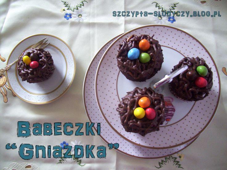 """Babeczki """"Gniazdka"""" PRZEPIS"""