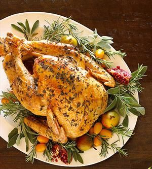 Traditional Roast Turkey for Christmas dinner