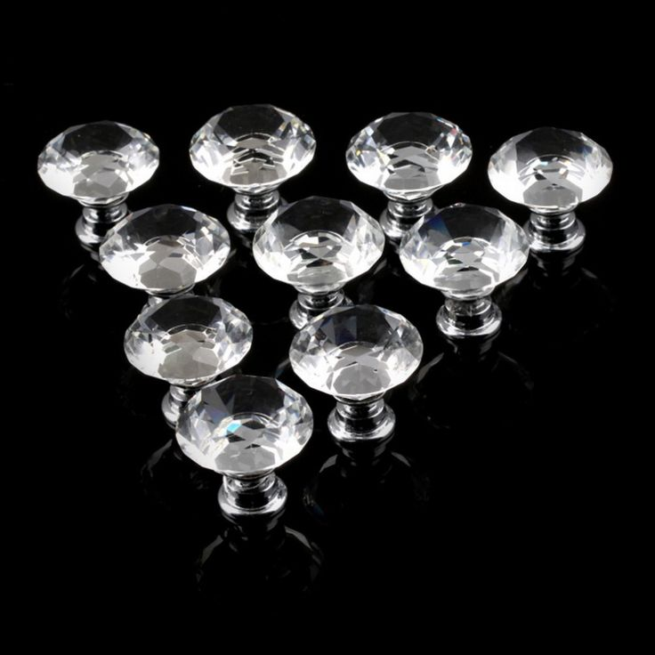 1pack/10 Pcs 30mm Diamond Shape Crystal Glass Drawer Cabinet Knobs and Pull Handles Kitchen Door Wardrobe Hardware Accessories #>=#>=#>=#>=#> Click on the pin to check out discount price, color, size, shipping, etc. Save and like it!
