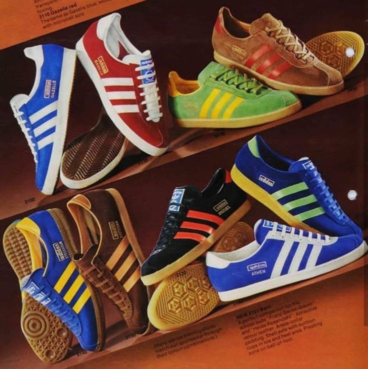 Look at the riches in this pic from an Adidas brochure from 1974- five  original
