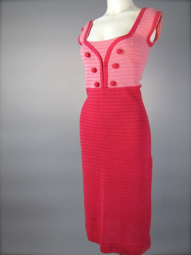 LOVE this dress....fantastic hand crochet dress from the early to mid 1960's.