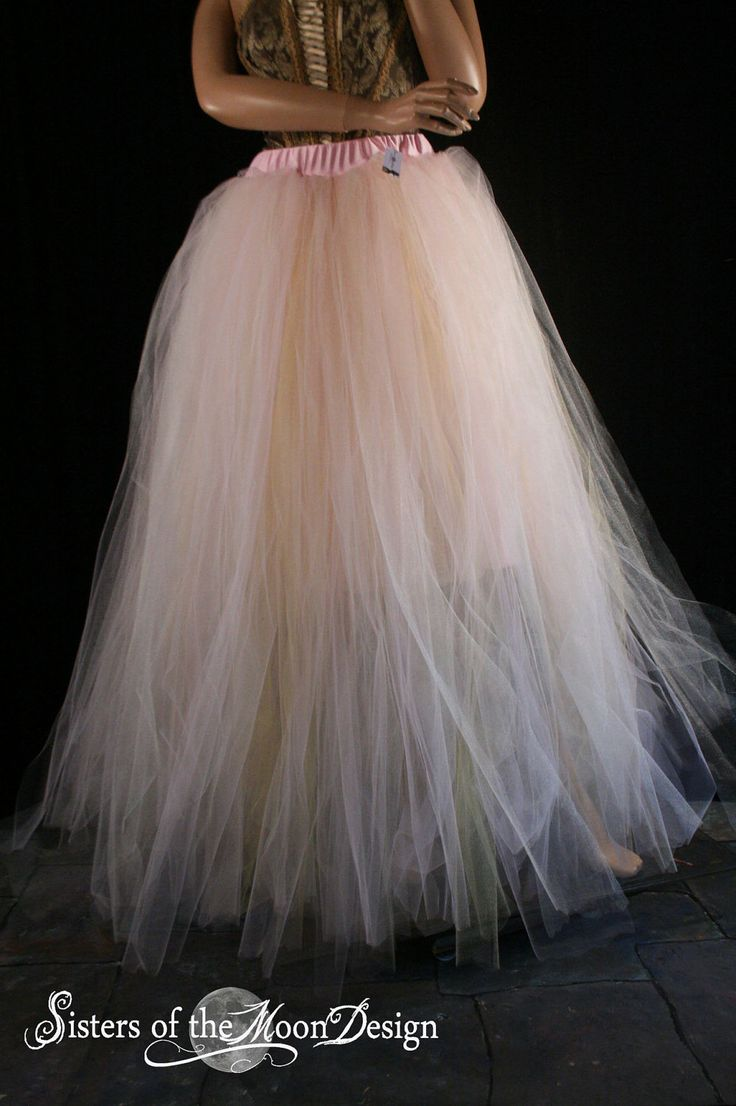 Streamer floor length adult tutu tulle skirt formal Bridal wedding princess ball dance prom carnival - You Choose Size - Sisters of the Moon by SistersOfTheMoon on Etsy