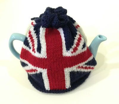 Union Jack Tea Cosy Knitting Pattern by funofthefairshop on Etsy, £3.00