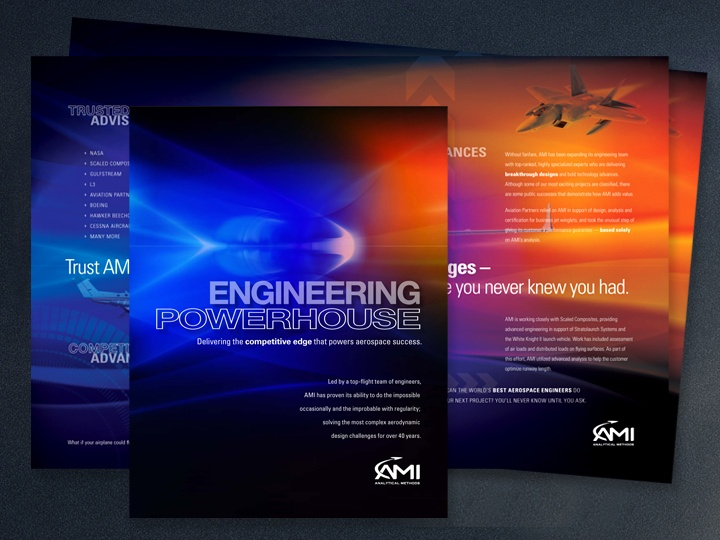 Marketing Brochure For Engineering Powerhouse, AMI. Http://www.anniehazama.