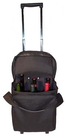 Wheeled Six Bottle Wine Bag