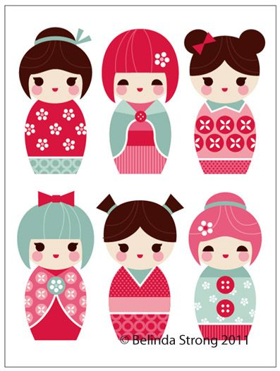kokeshi dolls - bjl