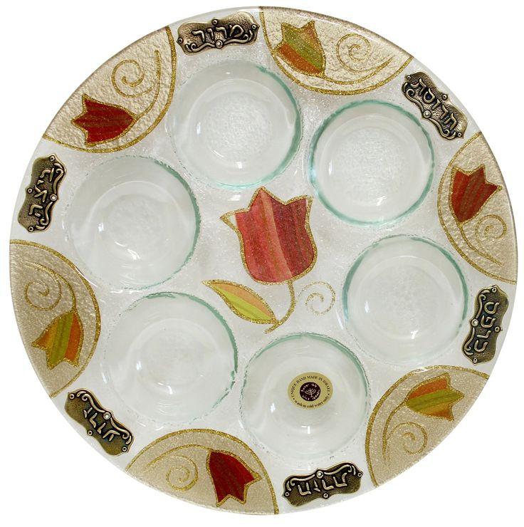 Seder Plate Hand Made Glass Designs