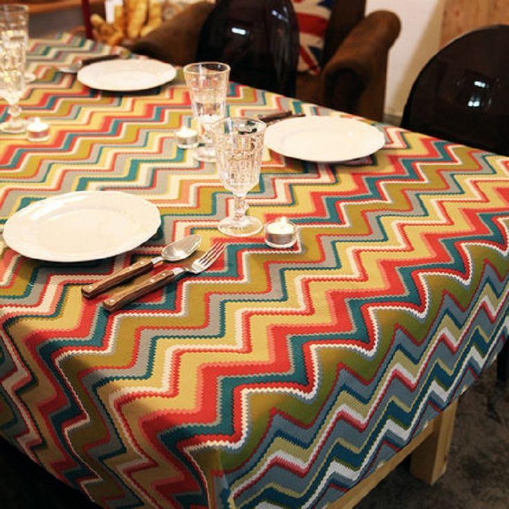The Mediterranean tablecloth Cotton cloth fabric Europeum Hotel circle cloth