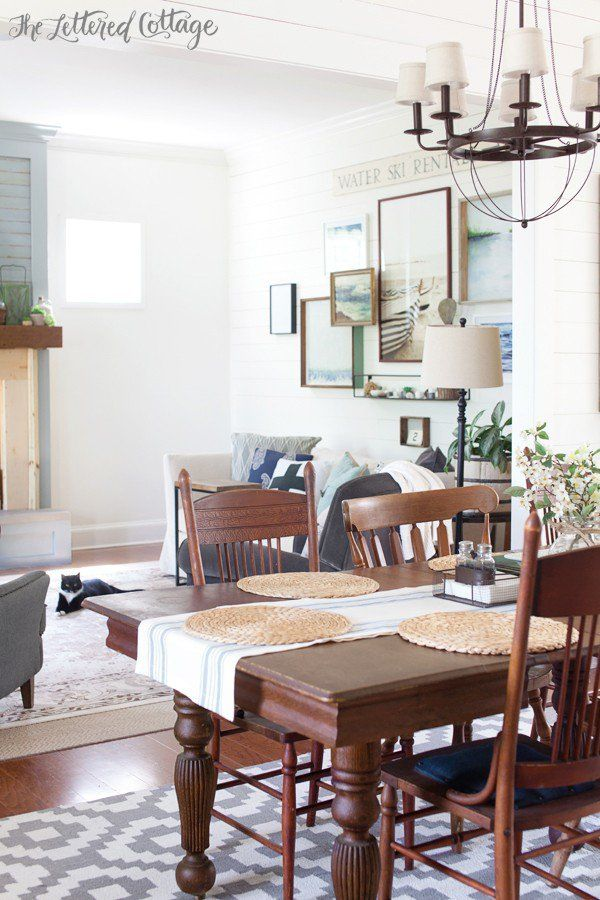 Cottage Farmhouse Decorating The Lettered Cottage Living Room Dining Room Living Rooms