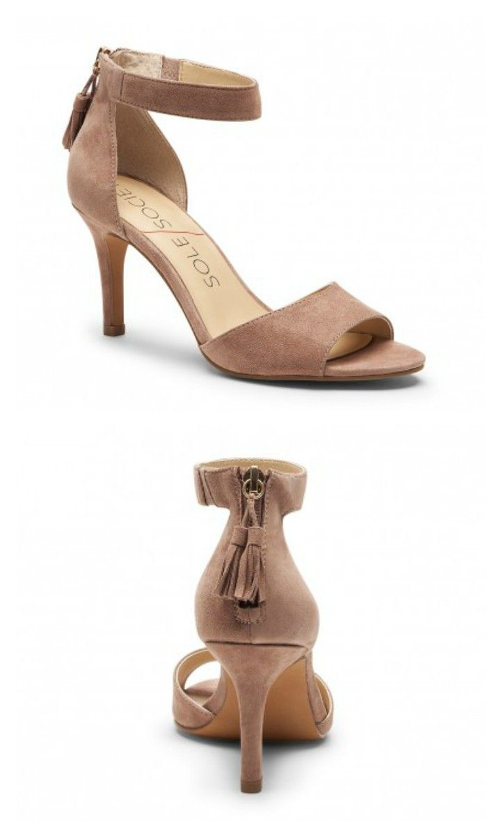 Luxurious suede mid heel sandals with fun zipper tassels, perfect for summer parties