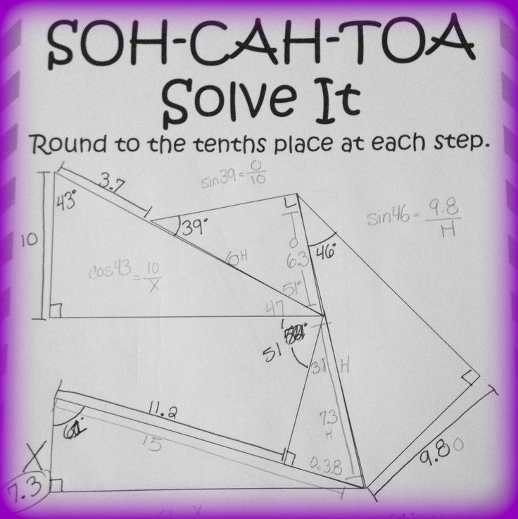 Soh Cah Toa Solve It 3 Sine Cosine Tangent Puzzles