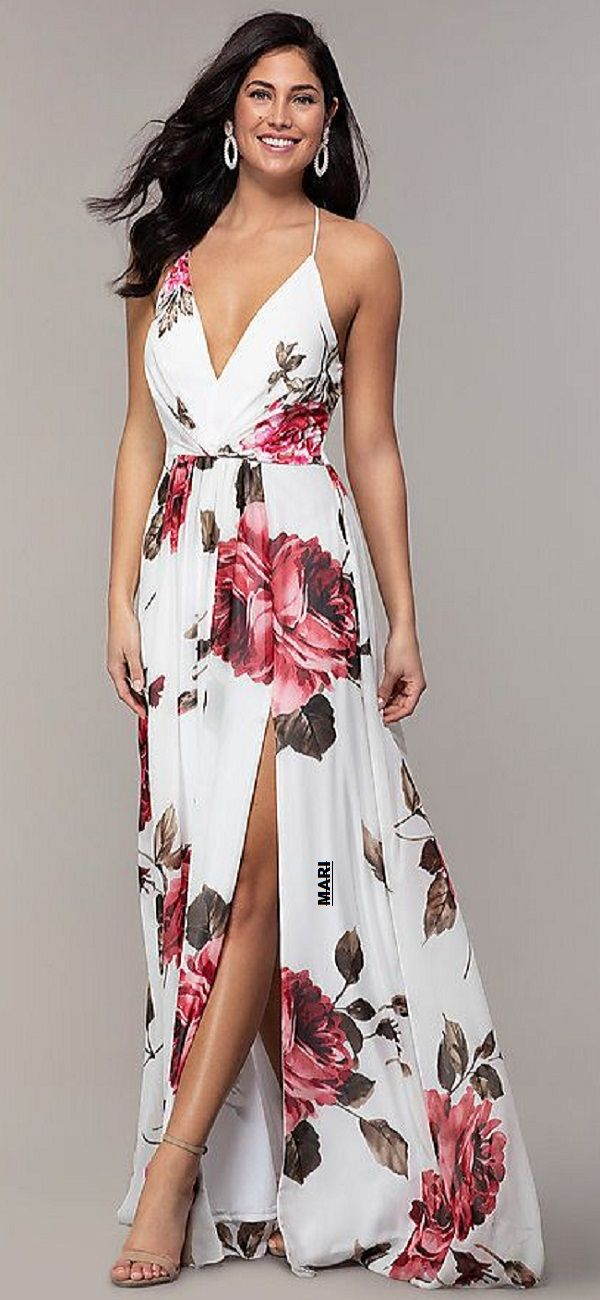 Pin By Shirleen Swartz On Clothing In 2020 Floral Dresses Long Printed Prom Dresses Floral Dress Formal