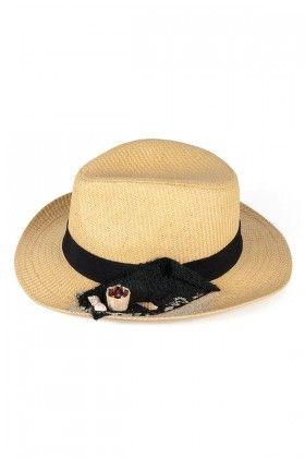 OZZ Hats Deniz Kumu ve Coco Cola Detaylı Hasır Şapka Lidyana