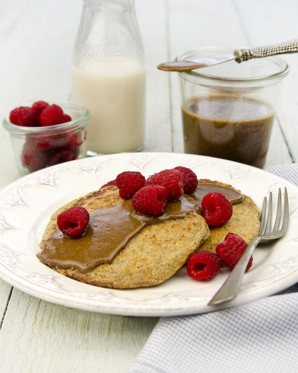 It's the ONE Single-Serve Pancakes (with Gingerbread Pecan Nutbutter) from Living Candida-Free by Ricki Heller