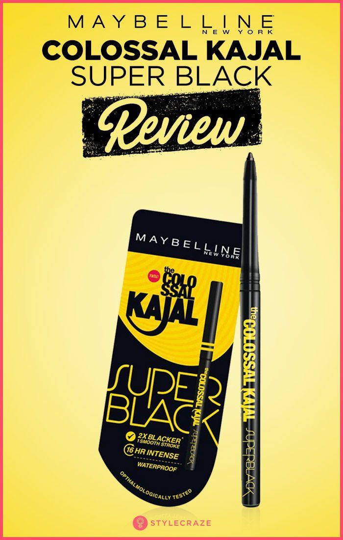 0c2b0817866 Maybelline Colossal Kajal Super Black Review #makeup #Maybelline #Kajal  #review