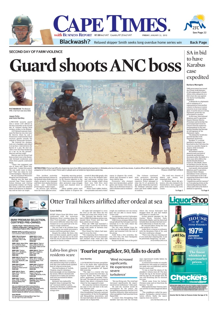 Guard shoots ANC boss