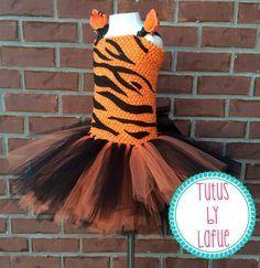Tiger/Tigger Costume Tutu Dress