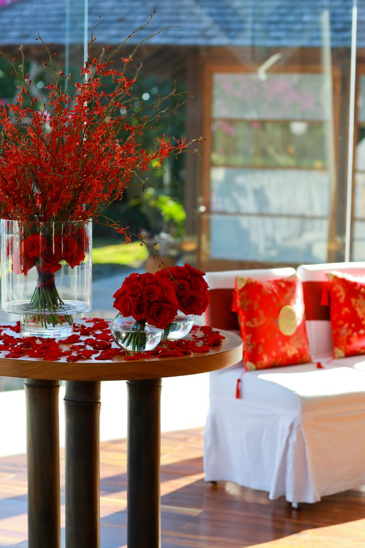 Add a stroke of oriental beauty in your wedding by using bright red tones in…