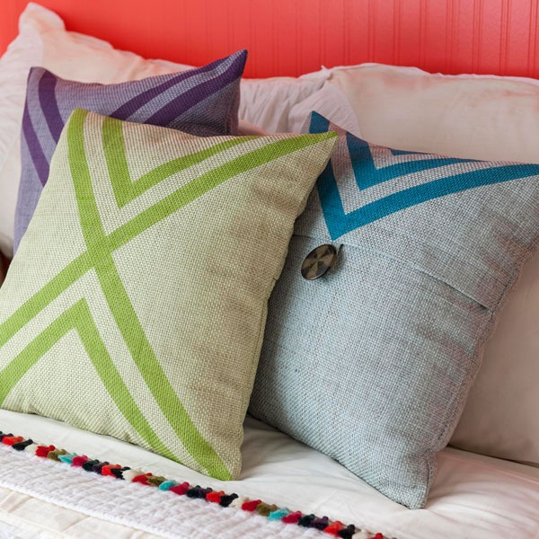 Painted Pillow Covers - Lowe\u0027s Creative Ideas & 34 best Pillows images on Pinterest | Pillow ideas Cushions and ... pillowsntoast.com