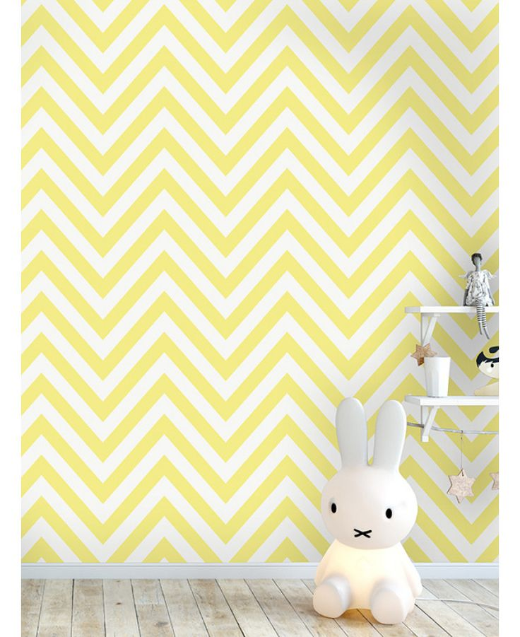 This Chevron Zig Zag Wallpaper features a simple yet striking yellow and white chevron design. Free UK delivery available