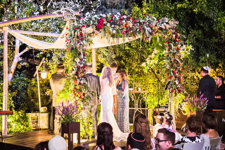 A Colorful Jewish Destination Wedding with an Ellis Bridal Gown at 'the Q', Kibbutz Galil Yam, Herzliya, Israel