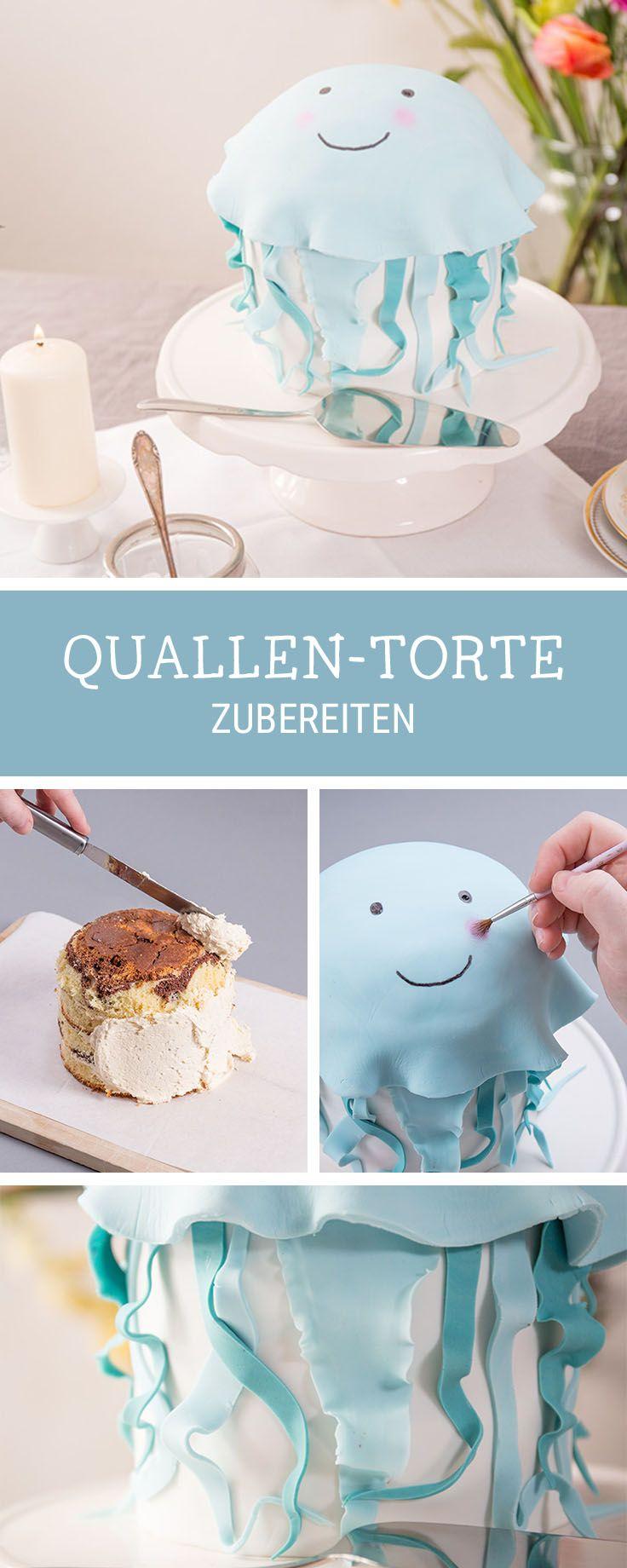 Motivtorte selberbacken: Witzige Quallentorte zum Geburtstag / funny cake inspiration: turn your birthday cake into a jellyfish cake via DaWanda.com