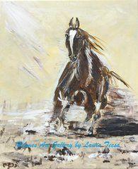 "Portrait- Running Horse; Acrylic on Canvas 24""H x18"" W"