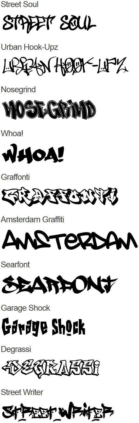 Graffiti Fonts #graffiti