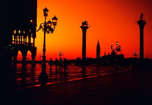 Sunset, Piazza San Marco, Venice, Italy