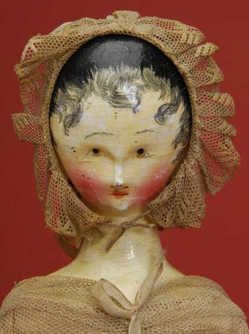 Austria, ca. 1830, early jointed wooden doll