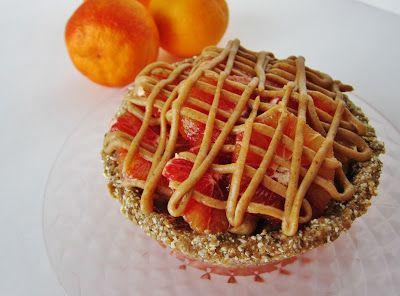 ... this Mini Raw Blood Orange Caramel Pie with Orange Lavender Ice Cream