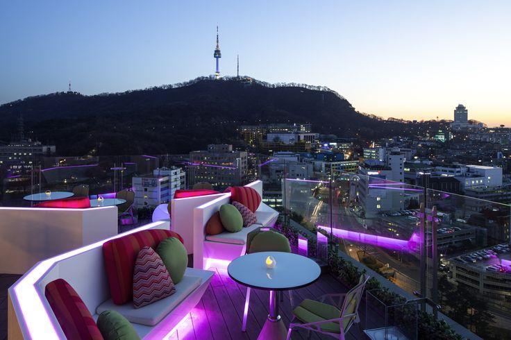 르 스타일 바 / Le Style Bar / 이비스 스타일 앰배서더 서울 명동 / ibis Styles Ambassador Seoul Myeongdong / 남산 뷰 / 루프탑 바 / Rooftop Bar