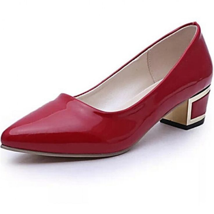 Women's #ShoesNz Chunky Heel Pointed Toe Pumps/ Dress Black/Red/White only at NZ$40