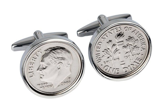 10th Wedding Anniversary-10 Year- Tin Gift for Men-2006 Mint Coin Cufflinks-100%…